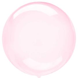 Doorzichtige Donker Roze Ballon - 18 inch/45 cm