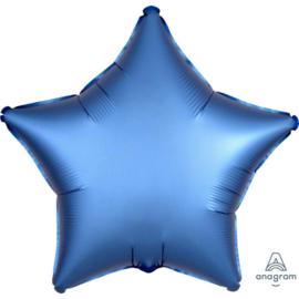 Ster - Satin Luxe Metallic Blauw - Folie Ballon - 17 Inch/43 cm