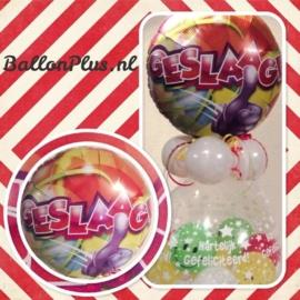 Cadeau - Kado Ballon - Geslaagd - Hartelijk Gefeliciteerd - Folie Topballon