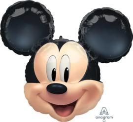Disney -Mickey Mouse Hoofd- XL Folie Ballon - 25 inch/63cm