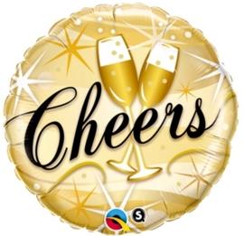 Cheers  - Goud- Folie Ballon - 18 inch / 46cm