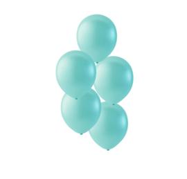 Licht groene ballonnen om te vullen met helium - Metallic licht groen - glans ballonnen - 35 cm - 5stk