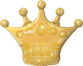 Kroon - Goud -  XXL Folie Ballon - 41 Inch/ 104cm