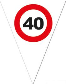 40 - Verkeersbord - Vlaggenlijn - 500cm