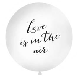 Mega latexballon- tekst ballon: love is in the air - ballon huwelijk bruiloft - decoratie mega grote ballon -  90 cm - helium of lucht ballonplus