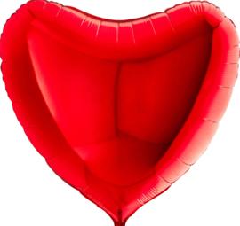 Hart - Rood - XXL - Folie Ballon -36Inch/90 cm