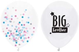 Big Brother - Grote Ballon + een Doorzichtige Confetti Ballon - 16 Inch/40 cm - 2 st.