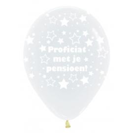 Proficiat met je Pensioen! - doorzichtige latex ballonnen - 12 Inch/ 30 cm