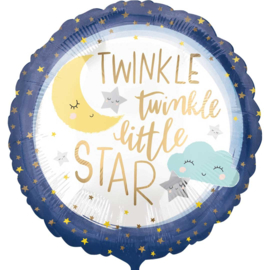 Twinkle Twinkle Little Star - Folie Ballon - 18 Inch/45 cm
