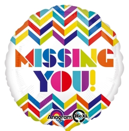 Missing You - Mis  je ! - Folie Ballon -17Inch/43cm