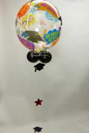 Geslaagd - Bubbles Helium Ballon - Met ballonnen en slinger - 22 Inch/56 cm
