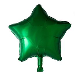 Ster - Groen - Folie Ballon - 18 Inch/46 cm
