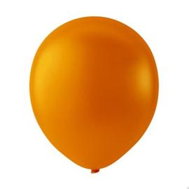 Oranje ballonnen om te vullen met helium - Metallic - glans ballonnen - 30 cm - 5stk