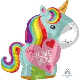 Love You - Unicorn - FolieBallon - 21Inch/53cm