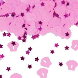 Tafel Confetti   Baby Voetjes - Kleur : Baby Roze Gewicht:14gr.