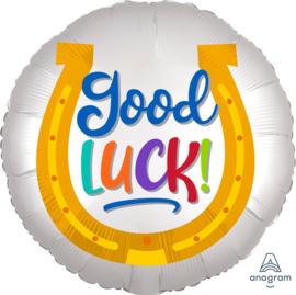 Good Luck!- Hoefijzer Folie Ballon - 18 Inch/45cm