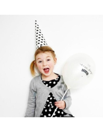 A Little Lovely Company - The best day Ever -Pearl White - Latex ballon - 12 Inch - 30 cm.