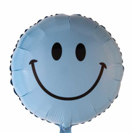 Smile - Folie Ballon - Blauw - 18 Inch/46cm