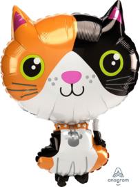 Lapjes kat -XL Folie Ballon - 16x21 Inch - 40x 53 cm