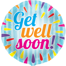 Get Well Soon! - Folie Ballon - 18 Inch/ 45cm