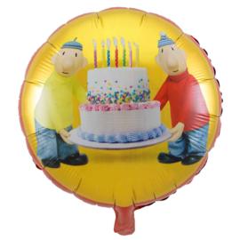 Buurman & Buurman - met een Taart - - Folie Ballon _18 Inch/45 cm