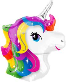 Regenboog - Eenhoorn / Unicorn - XL Folie ballon - 17x 22 Inch /43x56cm