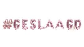 # Geslaagd - Ballonnen Letters Versiering - Rose Goud - 35 cm per letter (lucht)