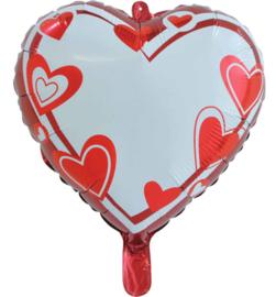 Personaliseerbare hartjes ballon- 18 inch/45cm