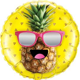 Ananas met zonnebril - Folie Ballon - 18 Inch/46cm