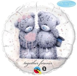 Me to You Teddy - Together Forever - Huwelijk - Folieballon - 18 Inch/46cm