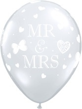 MR & MRS - Transparant - Latex ballon - 11Inch / 27,5cm