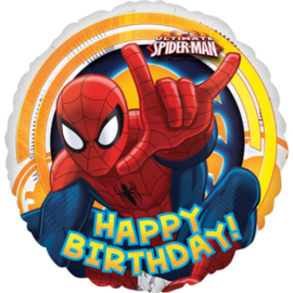 Spider-Man - Happy Birthday - Folie Ballon -18 Inch/45cm