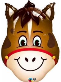 Paard - Hoofd - Smile - Folie ballon - XXL - 32 inch / 80cm