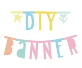 DIY Letter Banner / Slinger  - A Little Lovely Company : Pastel