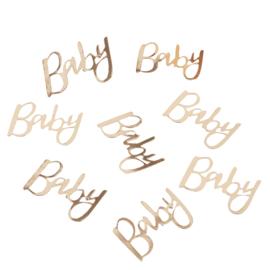 Confetti - Baby - Goud - Papier- 3,5x5cm- 14gr.
