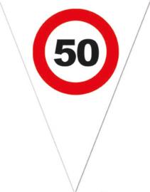 50 - Verkeersbord - Vlaggenlijn - 500cm