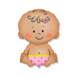 Baby Girl - Folie ballon - 18 Inch/ 45 cm