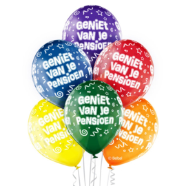 Geniet van je pensioen - latex ballonnen - 12 inch/30 cm