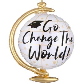 Go Change the World! Wereldbol - Folie Ballon - 23 Inch./58cm