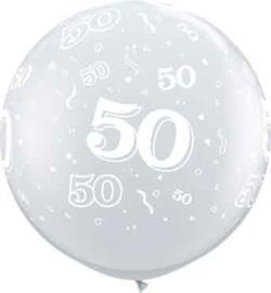 50 - Doorzichtige Ballon XXL -Latex Ballon - 36Inch / 90cm