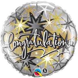 Congratulations - Folie Ballon - 18 Inch / 45cm