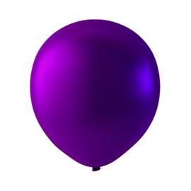 Paars ballonnen om te vullen met helium - Metallic - glans ballonnen - 30 cm - 5stk