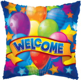 Welcome - Div. Kleuren Ballonnen - Folie Ballon - 18 Inch / 45cm