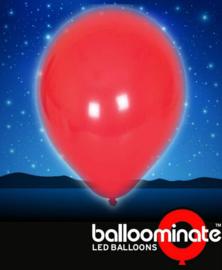 Balloominate - Led Ballonnen - Rood - 5 st./27,5 cm