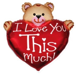 I Love You This Much - Folie Ballon - XXL - 24Inch/ 61cm