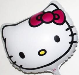 Hello Kitty Hoofd - folie ballon -18 inch/45cm