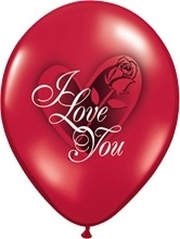 I Love You - Latex Ballon - 11 Inch/27,5cm - 5 st