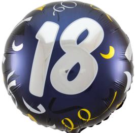 18- Zilver / Goud folie ballon - 18 Inch/45cm
