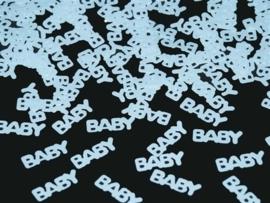 Tafel Confetti - Baby/ Zoon -  Baby Blauw - Folie -  15 gr.