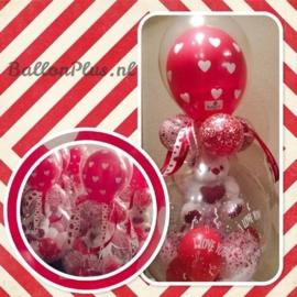 Cadeau - Kado Ballon -Harten /I Love You - Latex Topballon
